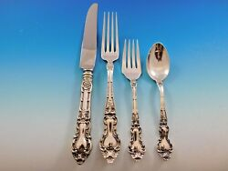 Meadow Rose By Wallace Sterling Silver Flatware Set For 8 Dinner Service 32 Pcs