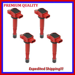 4pc Jhd289-r Ignition Coil For Honda Accord 2.4l L4 2006