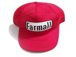 Vintage Farmall Snapback Trucker Farm Hat Red Young An