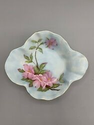 Vintage Lefton China Hand Painted Candy Dish Dogwood 1989 Stamp 07254