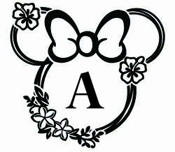 Minnie Mouse Silhouette Sticker Decal Custom Name Bedroom Disney Wall Decor