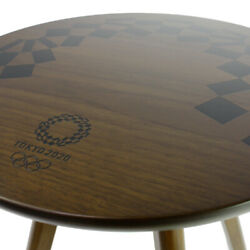 Tokyo Olympic 2020 Official Side Wood Table Original Emblem Genuine F/s From Jpn