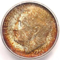 1952-s Roosevelt Dime 10c - Icg Ms67 Fb - Rare In Ms67 Full Bands - 231 Value