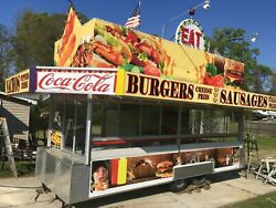 2019 8' x 22' Custom Built Food Concession Trailer for Sale in Louisiana!