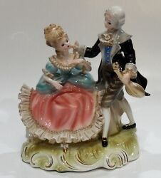 Ultra Rare Josef Originals French Lace Double Figurine Group Mint Condition