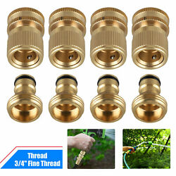 Garden Hose Quick Connect Solid Brass Quick Connector Garden Hose Fitting 3/4and039and039