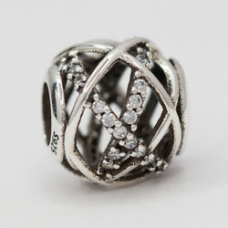 New Authentic Pandora Charm Galaxy Openwork Sterling Silver Bead 791388CZ