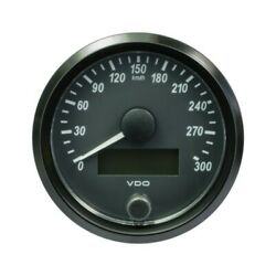 Vdo Singleviu Speedometer Gauge 300 Km/h Black 80mm-3 1/8and03910 Pcs Boat