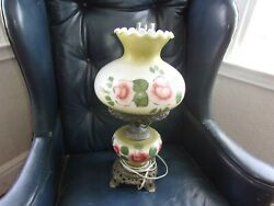 Vintage Lamp with Hand Painted Glass Globes