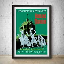 Haunted Mansion Vintage Disneyland 1969 Attraction Poster - New Orleans Square