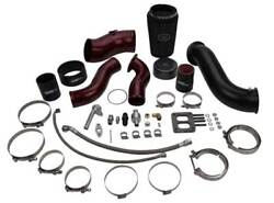 Wc Fab S400 High Mnt Turbo 2nd Gen Swap Kit For 13-18 Cummins 6.7l Gloss Blac