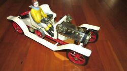 Early 1900 Steam Powered Car Working Mamod Hand Painted Driver Uk 15 In. Long