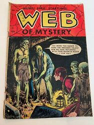 Web Of Mystery No.27. One Door From Disaster Ace Pre-code Horror. Nov. 1954
