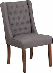 Hercules Preston Series Gray Fabric Tufted Parsons Chair [qy-a91-gy-gg] New