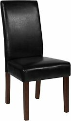 Greenwich Series Black Leather Parsons Chair [qy-a37-9061-bkl-gg] New
