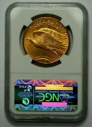 1925 20 Ngc Ms64 Gold St. Gaudens Double Eagle Graded Coin Bullion
