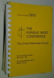 Lot Of 12 Kansas United Methodist Church Annual Conference Journals And Year Books