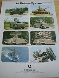 Air Defense Systems Thomson-csf 1980 Poster Advert Ready To Frame A4 Size File M