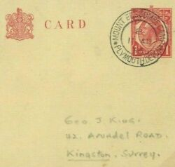 Gb Scouting Cover Mount Edgcumbe Camp Plymouth Devon Cds Last Day 1936 41d