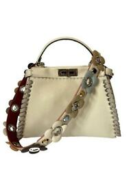 Fendi Selleria Medium Peekaboo Bag with Whipstitching w Strap $6420 In Stores