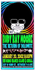 Rudy Ray Moore Concert Poster Scott Benge S/n Nyc 2002