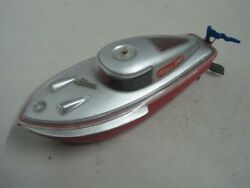 Antique Shuco Teleco 3003 Wind Up Speed Boat Works