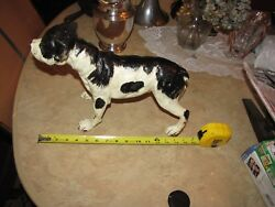 LARGE ANTIQUE??? ENGLISH STAFFORD TERRIER DOG DOORSTOP??? CAST IRON STATUE???
