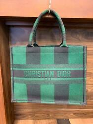 Christian Dior Book Tote Bag Green From Japan Free Shipping