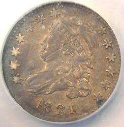 1821 Jr-2 Large Date Capped Bust Dime 10c - Ngc Xf Details Ef - R7 Variety