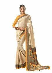 Bollywood Designer Party Wear Indian Crepe Saree Sari 18