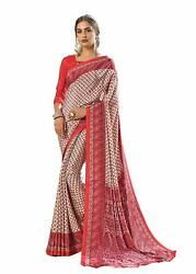 Bollywood Designer Party Wear Indian Crepe Saree Sari 9