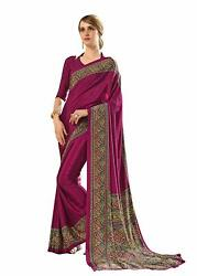 Bollywood Designer Party Wear Indian Crepe Saree Sari 15