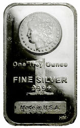 Morgan Dollar Design 1 Troy oz .999 Fine Silver Bar SKU29387 $31.36