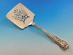 Olympian By And Co Sterling Silver Waffle Server Pierced 9 Vintage