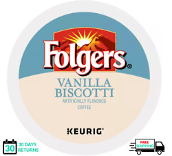 Folgers Vanilla Biscotti Keurig Coffee K-cups You Pick The Size