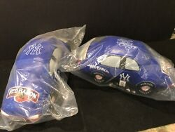 Two New York Yankees Sga Toy Red Barron Soft Blue Car's