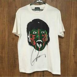 New Japan Pro-wrestling Great Muta T-shirt White With Autograph From Japan F/s