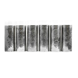 Mexican Glasses With Silver Repousse Set Of 6 C. 1940s