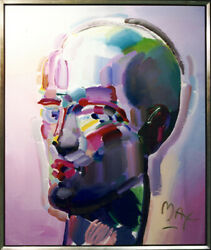 Peter Max Neo Head Painting