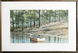 James Feriola, Rowboat, Watercolor On Paper