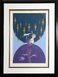 Erté, Freedom And Captivity, Screenprint With Foil Stamping, Signed And Numbered