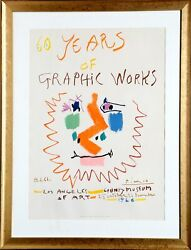 Pablo Picasso 60 Years Of Graphic Works Los Angeles County Museum Lithograph