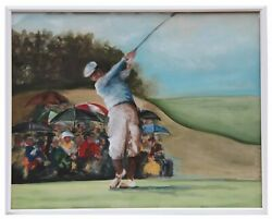 Chris Kosmouski, Fore Golf, Gouache On Paper, Signed And Dated L.r.