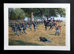 Bradley J. Schmehl Death Of Reynolds Offset Lithograph Signed And Numbered
