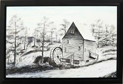 F.h. Fisher Old Mill Oil On Board Signed And Dated L.r.