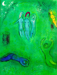 Marc Chagall, The Dream Of Daphnis The 3 Nymphs, Lithograph