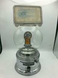 Rare Antique Ford Gumball Machine W/ Lock And Key - See Description For Details
