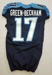 17 Dorial Green-beckham Of Tennessee Titans Nfl Locker Room Game Issued Jersey