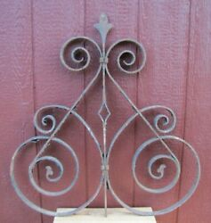 Antique Wrought Iron Gate Fence Topper Architectural Hardware Element 31x32