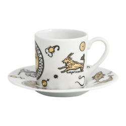 Fornasetti Astrology Coffee Cup And Saucer - Set X 6 New